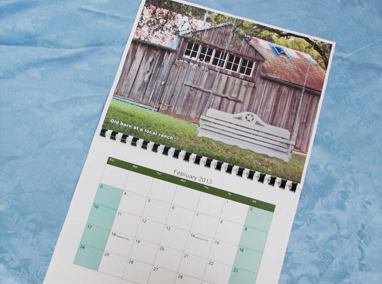 2013 Fundraiser Calendar 2