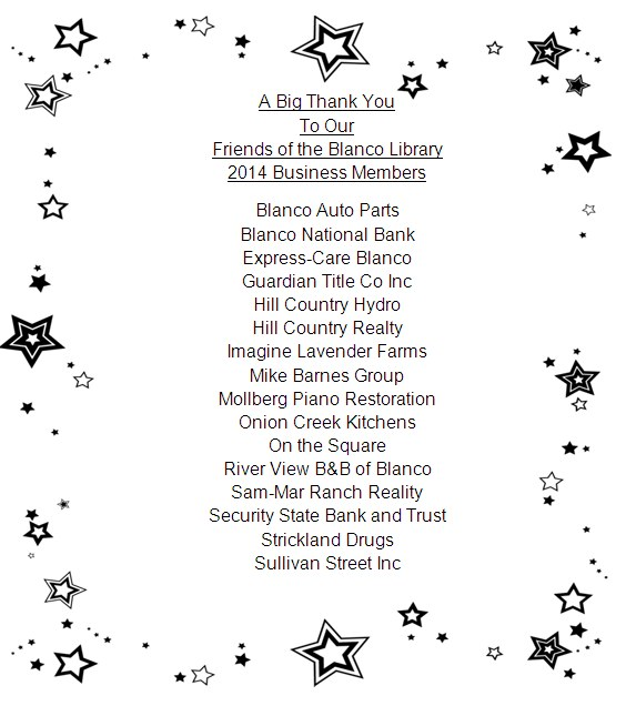 Friends of the Library Business Members