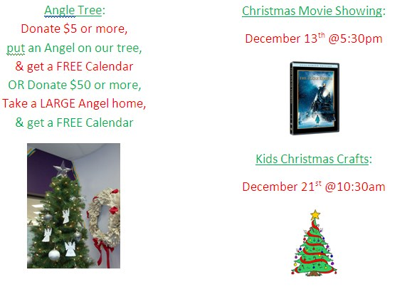 Angel Tree & Upcoming Events