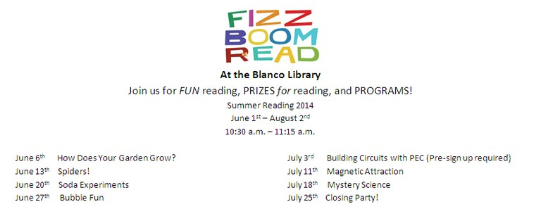 2014 Summer Reading Flyer