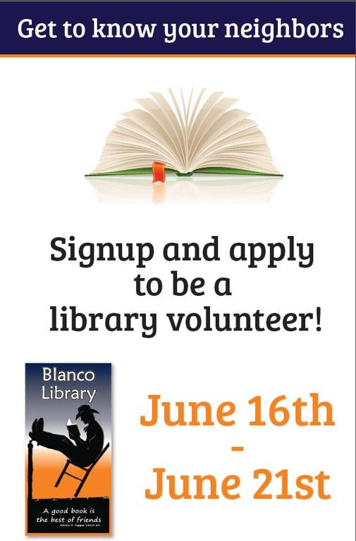Volunteer Signup Week 2014