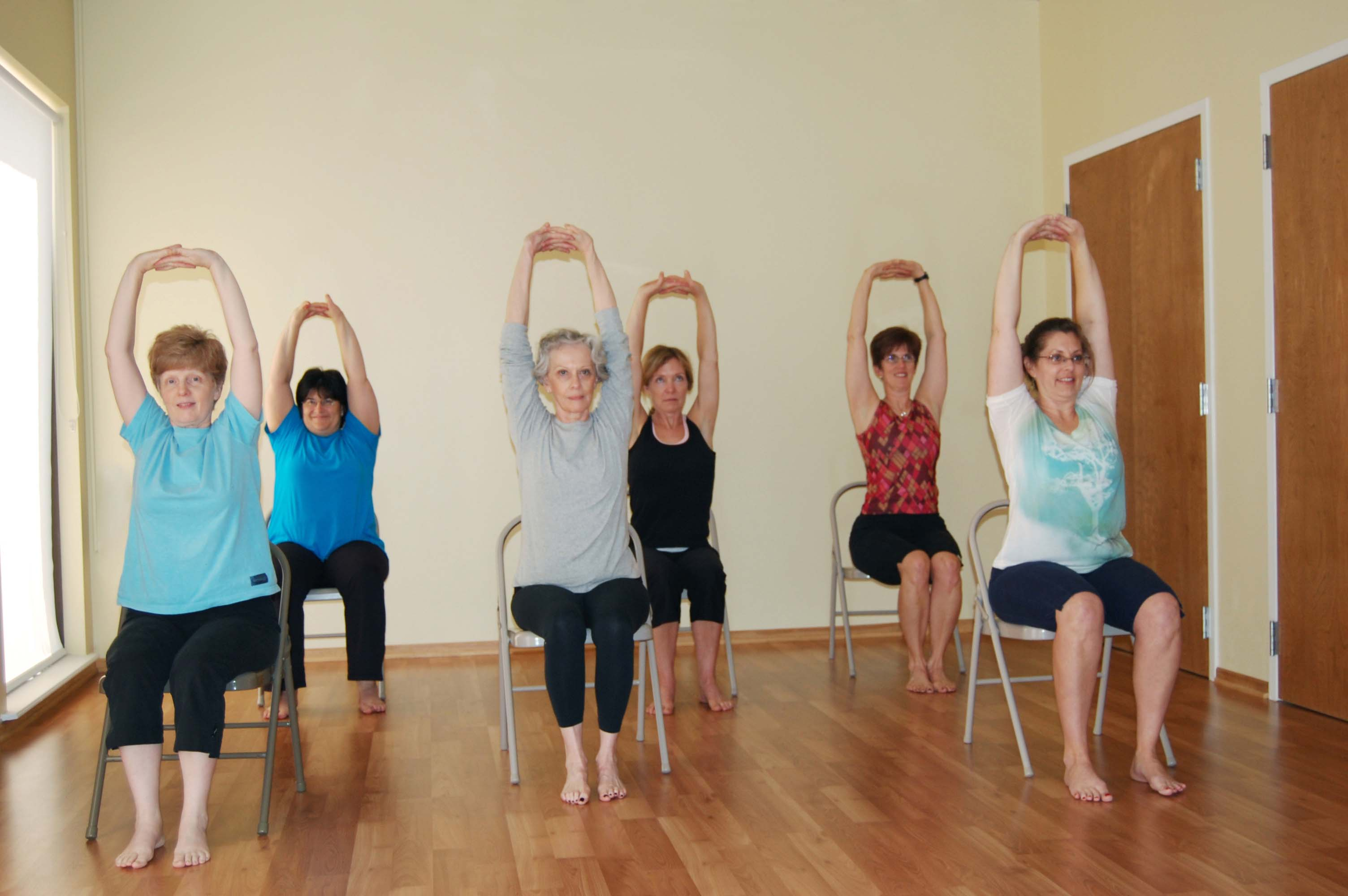 photo relating to Chair Yoga for Seniors Printable named Chair Yoga