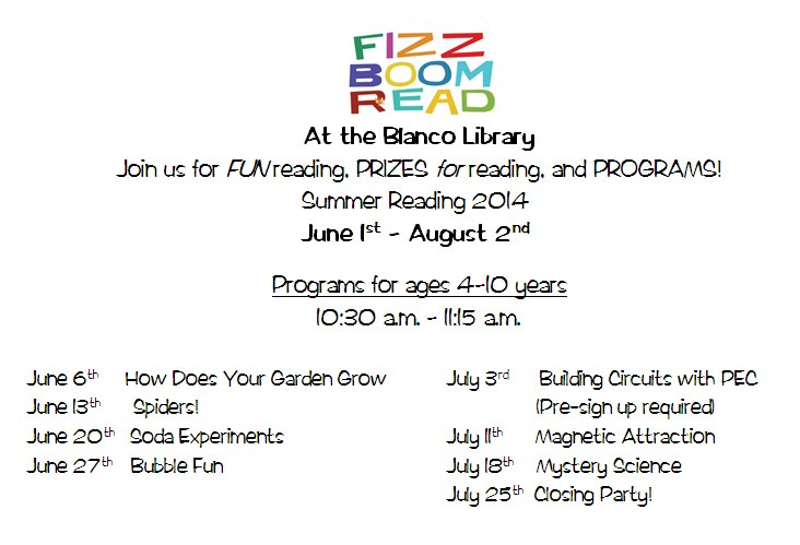 2014 Summer Reading Flyer