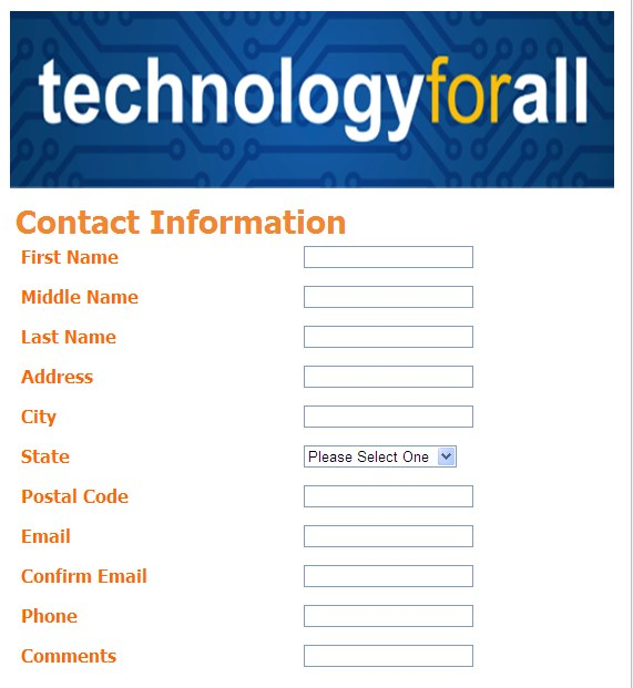 Tech for all sign up