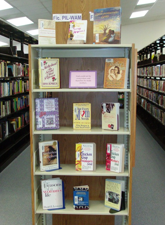 May 2010 Bookcase display