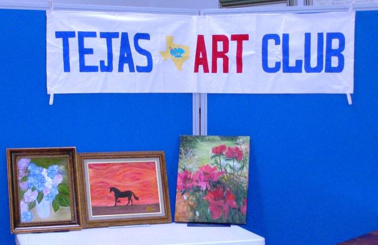 Tejas Art Club Sign