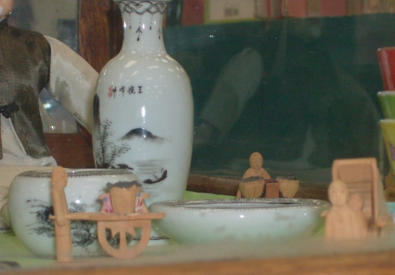 close up of china collectables