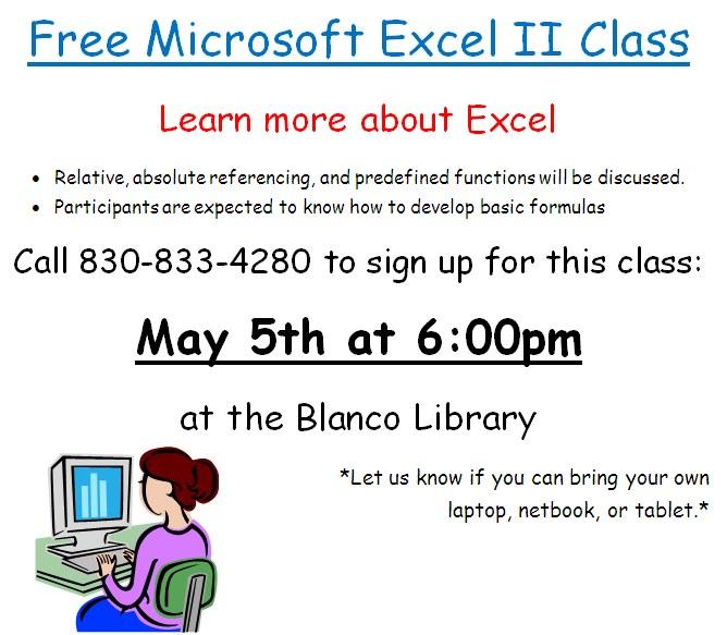Excel Class 5-5-15