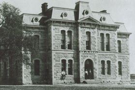 Old Blanco County Courthouse -  b&w.jpg